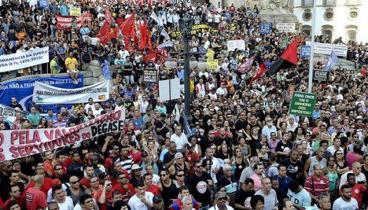 Baderna e desrespeito marcam greve geral