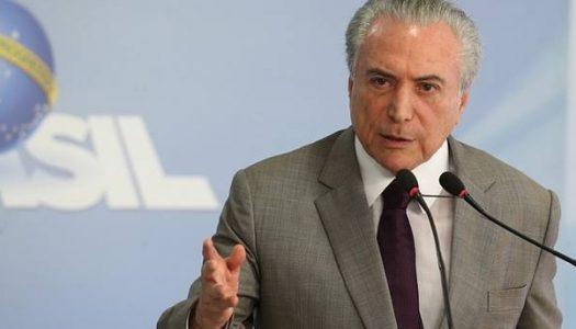 Temer manifesta inconformidade com juros reais no Brasil